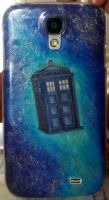 TARDIS Phone case by Patamao