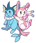 Pink + Blue by Amphany
