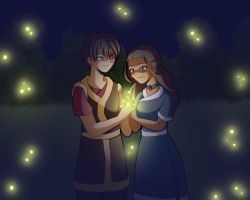 Zutara Week: Fireflies by LauraDoodles