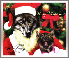 Werewolf X-Mas Card 2012 by SuzanneMoseley