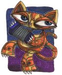 Squeezebox Kitty by Starstew