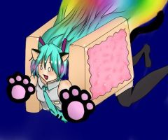 nyan cat miku by imara000