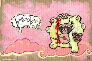 Attack of the Zombie Boobbear by teaspoons