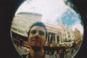 Dylan - Leicester Square - Fisheye by Diggdydog