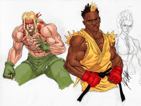 Street Fighter Study by RonAckins