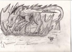 Hatching dragon no title LOL by cheesyhairball