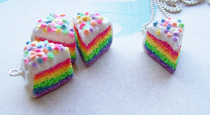 Miniature Rainbow Cake by SeaOfCreations