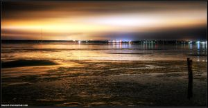 industrial sunset seascape by Tommy-Noker