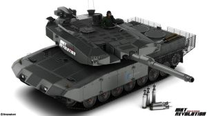 Leopard 2 MBT Revolution v1 by Siregar3D