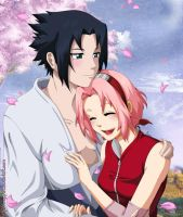 I'm home -  SasuSaku by Angywis