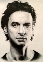 Dave Gahan Pencil Portrait by SonicKaos