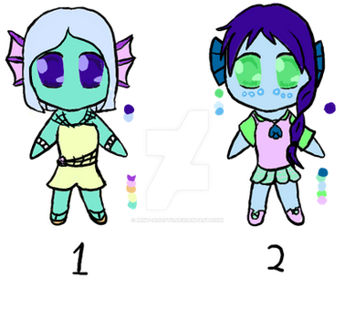 Marine Girls Adoptables [Closed] by Mint-Adopts