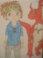 takato and guilmon by latiaslatios
