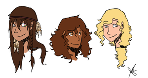 Heroes of Olympus Gals REDRAWN by ChammiBee