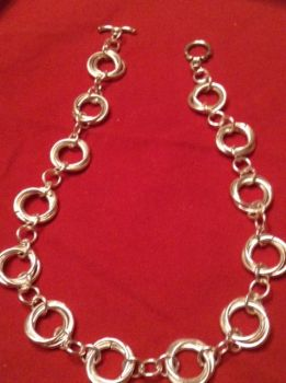 Chainmaille Necklace! by ChaineAlchemist