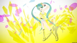 Hatsune Miku Yellow - Wall Ver by saiki2