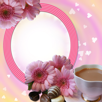 Coffee and Flowers Frame by venicet