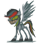 Eeevil Rainbow Dash by DocWario