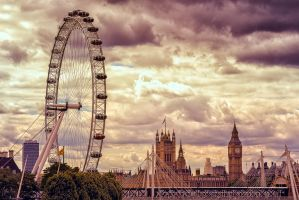 London Eye and Big Ben by hessbeck-fotografix