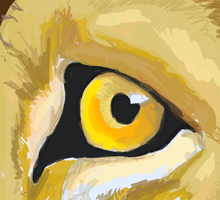 Eye of the lion - Oreo by Angel123dino