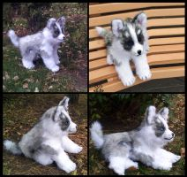 little Husky boy 100% handmade by MalinaToys