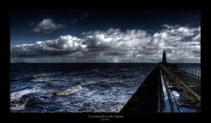 Tynemouth in the Storm by geckokid
