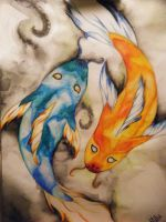 Dichotomy of Koi by x-surrealist-x