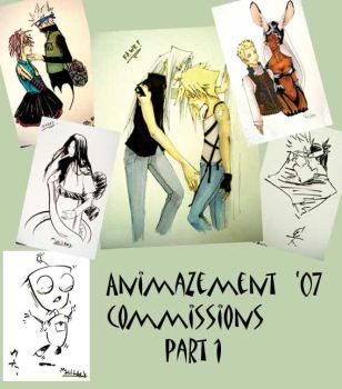 Collage of Animazement 07 comm by b-kitten
