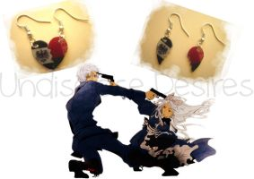 APH - Prussia x Belarus - Half Heart Earrings by Undisclose--Desires
