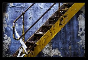 Yellow Staircase To Nowhere 2 by tankphoto