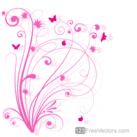 Vector Floral Design 5 Pink Floral Background by 123freevectors
