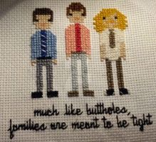 Workaholics cross stitch by Oolongo