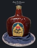 Crown Royal Bottle Cake by ArteDiAmore