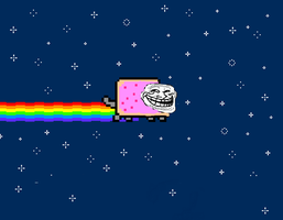 Troll Faced NYAN CAT!! by GoldStealthElf