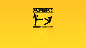 WallPaper Caution This Is Sparta by raikouto