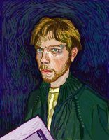 Self-Portrait after Van Gogh by Skeleton-Boy