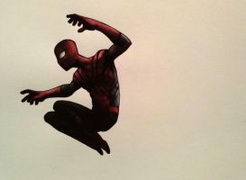 Spiderman watercolor by legumebean