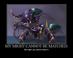 MY MIGHT CANNOT BE MATCHED. by totoybandojo