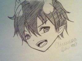 -Rin Okumura. by AliRed