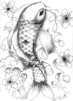 koi commission by rolandflagg