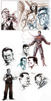 Superman sketches. by dichiara