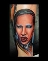 marilyn manson portrait tattoo by 3598Joshuah