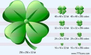 Four-leafed clover Icon by medical-vista-icons
