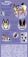 : Mary, the Little Fox : 2013 Ref. Sheet by ThatWildMary