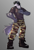 Army Wolf by Bloody by Scottvisnjic