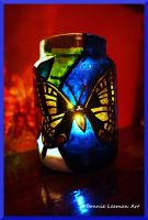 Swallowtail Candle Jar by Bonniemarie