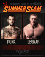 CM Punk Vs Brock Lesnar - Summerslam by MattiaZingale