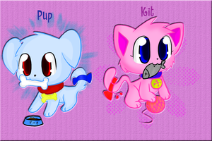 Pup and Kit trade by chibitracy