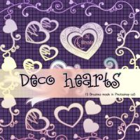 Decorative Hearts Photoshop Brushes by Coby17