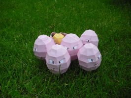Exeggcute papercraft by TimBauer92
